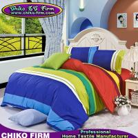 Wholesale Colorful Stripes Printed 3 / 4 Pieces Comforter Duvet Cover Bedding Set from china suppliers