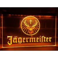 Wholesale Factory Wholesale Wall-mounted Jagermeister Deer head LED Illuminated Neon Bar Sign Display from china suppliers
