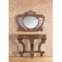 Wholesale Artificial Wood Polished Carved Makeup Dressing Table With Mirror Wall mouted from china suppliers