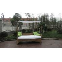 Wholesale Brown Roofed Outdoor Swimming Pool Wicker Daybed With Long Pillow from china suppliers