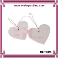 Wholesale 2016 hot heart shape custom paper tags hand tag with strings ME-TG019 from china suppliers