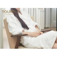 Wholesale Kimono Waffle Weave Luxury Towelling Bathrobe With White Jacquard from china suppliers