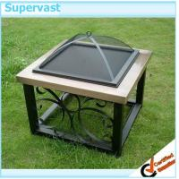 Wholesale 34'' Ceramic Tile Fire Pit Heater Table , Portable Garden Outdoor Fire Pit from china suppliers