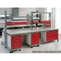 Wholesale Lab Workstation,Lab Furniture with Steel Cabinet And Reagent Shelf from china suppliers