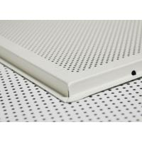 Wholesale Customize Aluminum metal perforated drop down ceiling tiles / panel from china suppliers