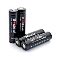 Wholesale Soshine 18650 LiFePO4 3.2V Protected Battery :1800mAh from china suppliers
