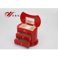 Wholesale Simple / Compact Small Wooden Jewellery Box Organizer Easy Clean With 2 Drawers from china suppliers