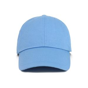 Wholesale OEM Blue Color None Logo Cotton Fabric Baseball Cap from china suppliers