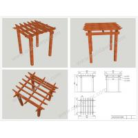 Wholesale WPC prefabricated DIY pergola designs 3M*3M*3M or customized size(OLDA-5004B) from china suppliers