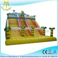 Wholesale Hansel attractive kids amusement park games inflatable climbing wall with slide from china suppliers