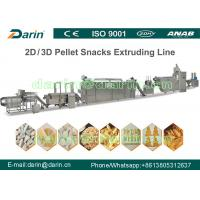 Wholesale SUS304 Snack Extruder Machine / Fried 3D Compound Pellet Making Machine from china suppliers