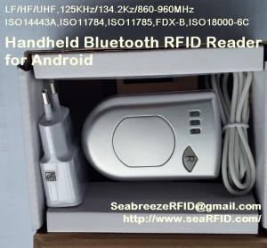 Quality Bluetooth Handheld UHF Read Write Equipment, Handheld Bluetooth UHF Reader, suitable for Android for sale