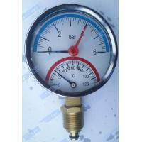 Wholesale 3 Inch Bottom steel case Temperature pressure gauge with 1/2 inch connector from china suppliers