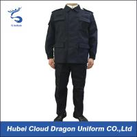 Wholesale Durable Ripstop Police SWAT Uniforms , Dark Blue Military Army ACU Uniform from china suppliers