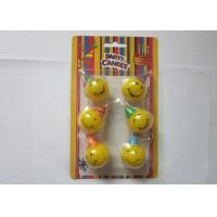 Wholesale Yellow Smile Face Shaped Birthday Candles Dia 3cm Indoor Party Decoration from china suppliers
