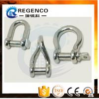Galvanized Screw Pin US Type Steel Drop Forged D Shackle