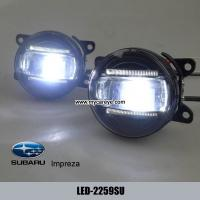 Wholesale Subaru Impreza car front fog light LED DRL daytime driving lights custom for sale from china suppliers