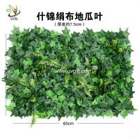 Wholesale UVG garden ornament various artificial plastic grass mat for wall decoration GRS22 from china suppliers