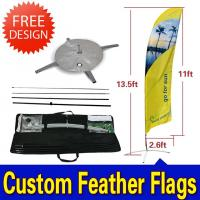 Wholesale Custom Flying Banner Feather Flags Banner With Dye Sub Printing from china suppliers