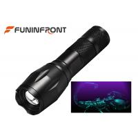 Wholesale 3W High Power Black Light LED Flashlight 395NM Wavelength Adjustable Focus Torch from china suppliers