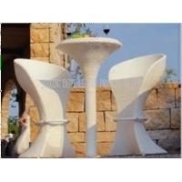 Wholesale Fashion Luxury Wicker Garden Furniture Sets Two Chairs Outside UV Resistance from china suppliers
