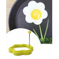 Wholesale Non-slip Handle Silicone Flower Shape Fried Egg Ring Pancake Ring Mould from china suppliers