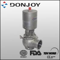 Wholesale SS304 316L DN25 sanitary grade reversing valve with pneumatic actuator of single seat for conveying fluid from china suppliers