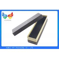 Wholesale Customized Wine Gift Box Packaging White Printing Rigid Black Textured Paper Material from china suppliers