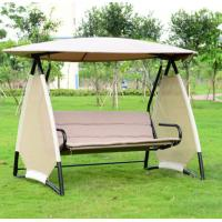 Wholesale Powder-coated metal luxury garden iron swing chair for garden with canopy / tent /  umbrella from china suppliers