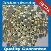 China China YAX High Quality Swainstone-Clear Flat Back Glass Beads Wholesale YAX213 Jouquil 36 Colors on sale
