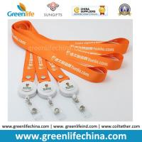 Wholesale Polyester Custom Orange Personalized Badge Reel Lanyards for Name Card Fastenering from china suppliers