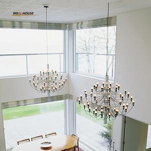 Buy cheap Modern Led chandelier lighting Simple Hanging Lights for Restaurant/Hotel/DingRoom E14 18/30/50 Heads avize Chandelier from wholesalers