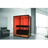 Wholesale Hemlock Wood Far Infrared Sauna Room with Spot Light for 3 Person from china suppliers