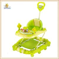 Wholesale Green Plastic Rolling Baby Walker With Handle , Ajdustable Backrest Easy Store from china suppliers
