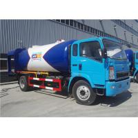 Wholesale 4x2 12CBM 5 Ton 6 Tons LPG Delivery Truck 12000L Color Customized For HOWO from china suppliers