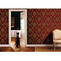 Wholesale Eco - Friendly Embossed Classic Damask Wallpaper PVC Vinyl Wallpaper from china suppliers