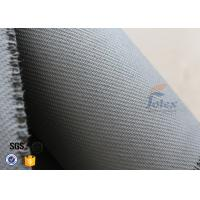 Wholesale Home Fire Safety Blanket 1600g 1.3mm Grey Silicone Coated Fiberglass Fabric from china suppliers