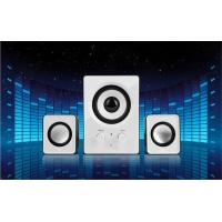 Wholesale Space - Saving Plastic 2.1 Computer Speakers With Subwoofer Output 10 Watt from china suppliers