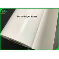 China 200gsm 260gsm One Side Luster Pigment Ink Jet Photo Paper Roll With RC Coated on sale