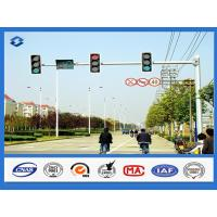 Wholesale 8 Sides 1 Arm Hot dip Galvanized street sign pole , AWS D 1.1 Welding Standard traffic sign posts from china suppliers