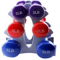 Wholesale llb and kg weight colorful Neoprene Coated Round Shape Dumbbell from china suppliers