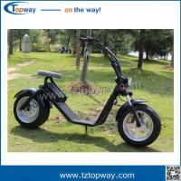 Wholesale 18*9.5 inch big tyre 1000w 60v harley electric scooter no folding stand up citycoco from china suppliers