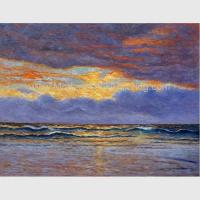 Wholesale Impressionism Claude Monet Oil Paintings Reproduction Sunrise Seascape Oil Paintings from china suppliers