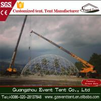 Wholesale Customized Music Festival Large Dome Tent , Rustless White Geodesic Dome Tent from china suppliers