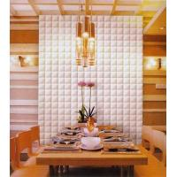 Wholesale Red / White 3D Decorative Wall Panel for KTV , Bathroom , Bedroom from china suppliers