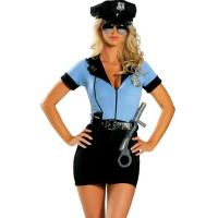 Wholesale Sexy P.D. Blue Costume Adult Costumes for Carnival Christmas Halloween from china suppliers