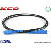 Wholesale SC / UPC  - SC / UPC Single Mode Simplex FTTH Fiber Optic Patch Cord Black Cover from china suppliers