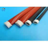 Wholesale Insulation Expandable Braided Sleeving High Temperature Fiberglass Sleeving Coated Silicone from china suppliers
