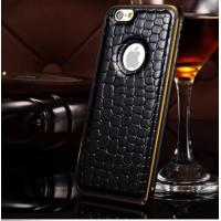 iphone 6 plus metal frame leather case
