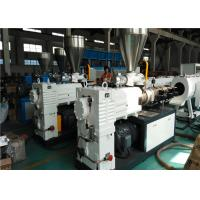 China Double Strands Plastic Pipe Extrusion Line , High Output PVC Pipe Production Line on sale